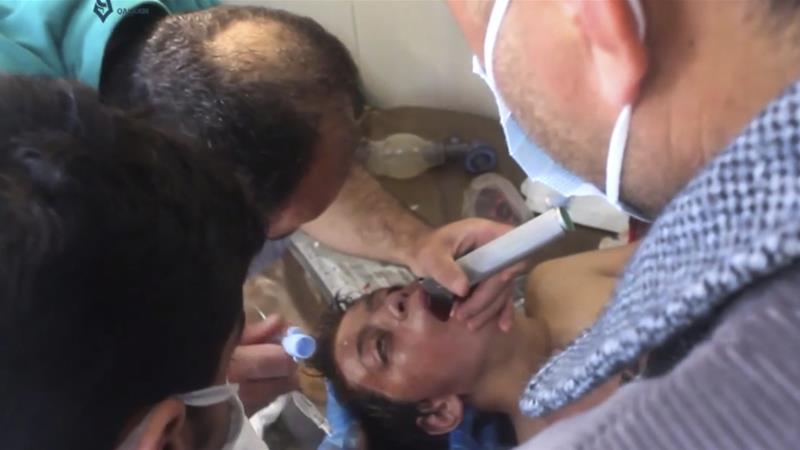 Korban senjata kimia Suriah. (Foto: Al Jazeera)