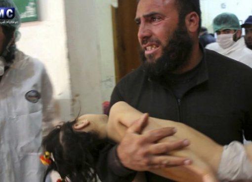 Korban senjata kimia tentatara pemerintahan Suriah. (Foto:AP/Al Jazeera