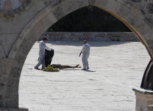Tiga warga Palestina tewas ditembak polisi Israel di halaman masjid Al Aqsa . (Foto: Reuters/Al Jazeera)