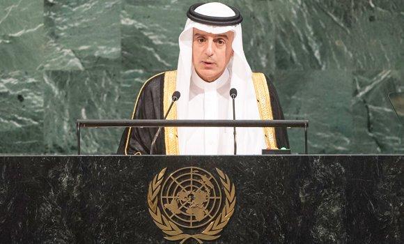 Menteri Luar Negeri Saudi Adel Al-Jubeir . (Foto: PBB/Arab News)