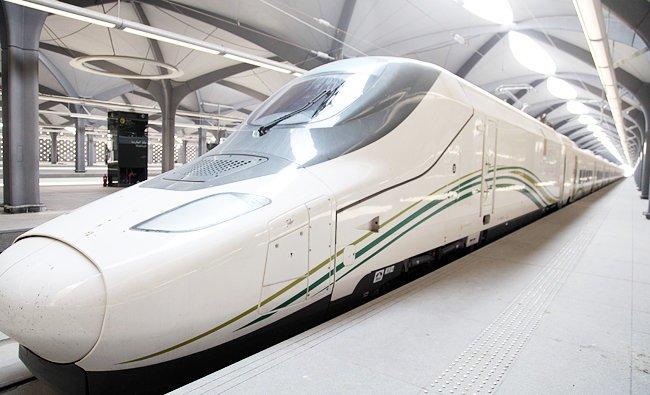 Kereta api cepat Makkah - Madinah diujicobakan. (Foto: SPA/Arab News)