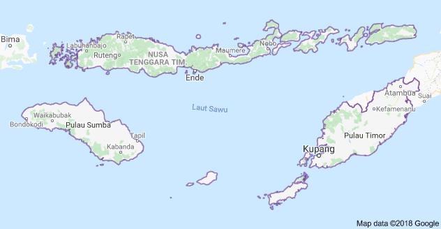 Peta NTT. (Google Map)
