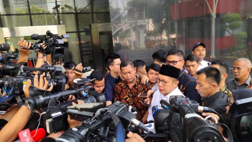 Menteri Agama Lukman Hakim Saifuddin saat tiba di Gedung KPK, Rabu (8/5). (Foto: https://kemenag.go.id)