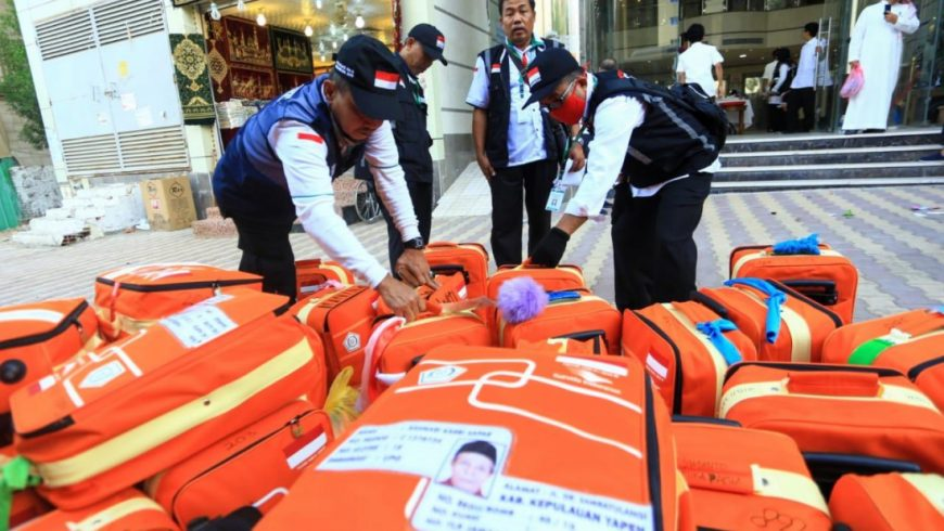 Koper-koper jemaah haji Indonesia yang akan meninggalkan Makkah (foto: kemenag.go.id)