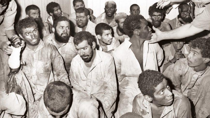Orang-orang bersenjata yang ditangkap pada Desember 1979. (Foto: AFP/Arab News)