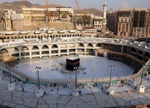 Foto yang diambil pada 5 Maret 2020 menunjukkan area sekitar Ka'bah, di dalam Masjidil Haram. (File AFP/Arab News)