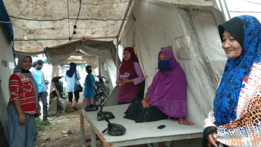 Sejumlah warga Palu, Sulawesi Tengah, terus tinggal di tenda lebih dari 18 bulan setelah bencana alam pada September 2018, dan kini juga khawatir menghadapi ancaman virus corona. (Fto: Disuplai/Al Jazeera)