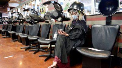 Salon dan spa diizinkan dibuka kembali di Georgia.(Foto: Reuters/BBC News)
