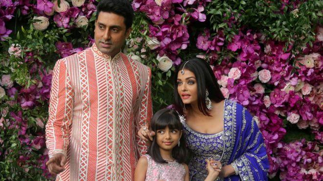 Abhishek Bachchan, Aishwarya Rai Bachchan, dan Aaradhya, keluarga artis India, semuanya dinyatakan positif awal pekan ini.(Foto Reuters/BBC News)