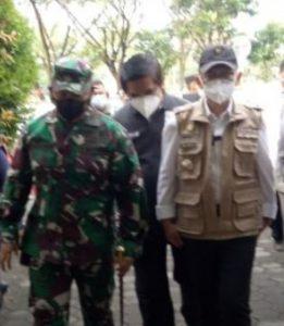 Dandim 0509 Pantau Vaksinasi di Kompleks Perkantoran Pemkab Bekasi